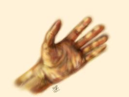 iPad finger painting of my hand by chaseroflight