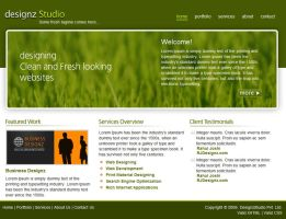 Fresh Green Website Template by rjoshicool