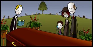 At The Funeral... by glassonion14