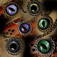 Pendants of a Dragon - Green Purple Blue 2182014 by LadyPirotessa