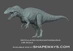 Acrocanthosaurus 1:35 scale ARTICULATED by GalileoN