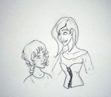 Faye and Lacey Sketch by Shauna-O-Connor