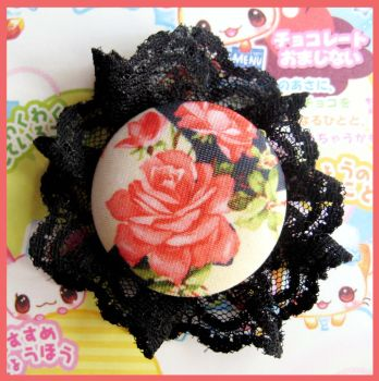 Red Rose Pin by cherryboop