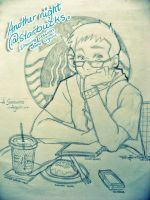 Drawing Session at Starbucks by Ernz1318