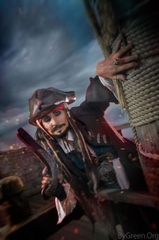 Captain Jack Sparrow, Pirates of the Caribbean by bygreenorg