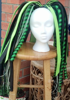 Cyberlox Falls Cybergoth Green and Black Metallic by CyberFreakedd