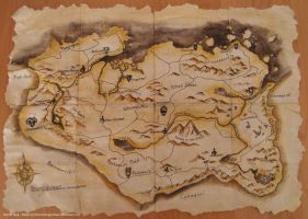 Skyrim Map by DemonDragonSaer