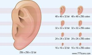 Ear Icon by medical-icon-set