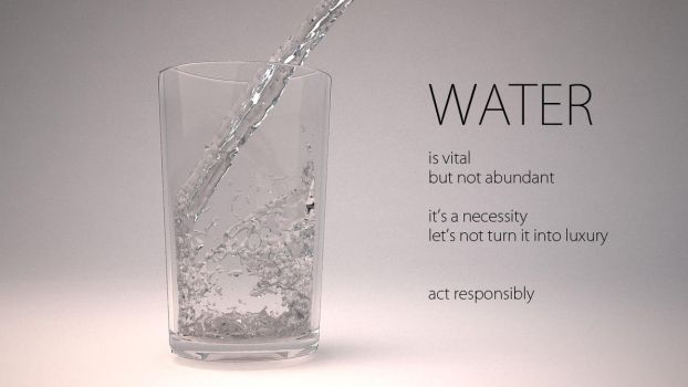Water Importance Ad by BrotherOfMySister