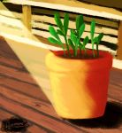 Potted Plant by mostlyPJO