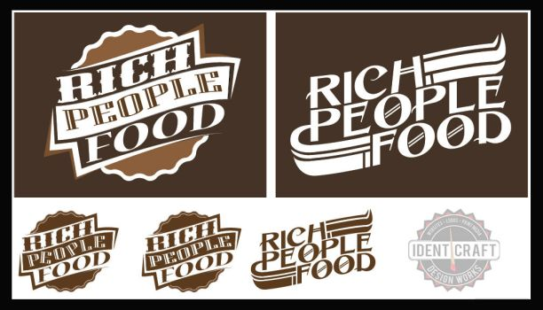 Rich People Food band concept logos by identicraft