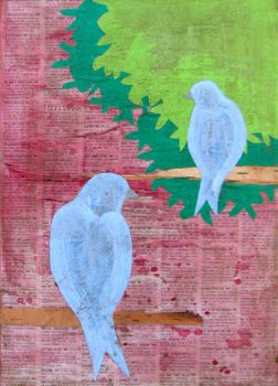 Lovebirds 2 Blue by kaseykoski