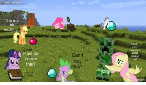 MLP's Minecraft Mash Up! by FuzzyyPanda