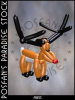 Xmas Balloon 003 Reindeer by poserfan-stock
