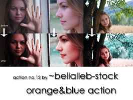 orange and blue action no.12 by bellalleb-stock