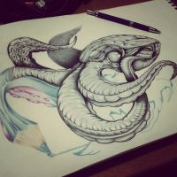 Drawing Octopus by IlustranDroh