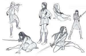 Life Sketches 3 by mollyinmeguro