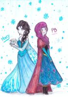 PB and Marcy-Anna and Elsa by NENEBUBBLEELOVER