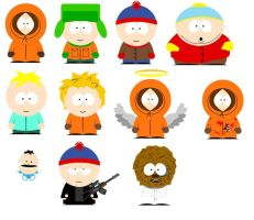 South Park Characters by spidey2099