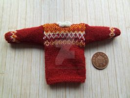 1:12th scale Fair isle jumper 1 by buttercupminiatures