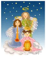 Christmas Angels by Delen