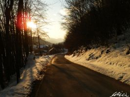 Road to our town by Saici