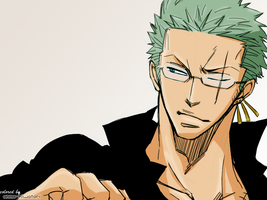 2YL glasses Zoro coloring by AnnaHiwatari