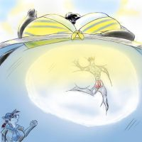 Orca loves the visitors by saintdraconis