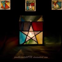 Pentacle Stained Glass by pantherwitch4982