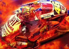 Valentino Rossi 'On Fire' by kitster29