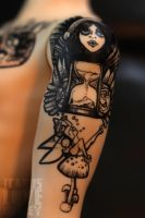 Upper Arm Tattoo by IcarusLoveMedley