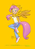 Fluttershy Anime Style by Banzchan