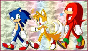 Sonic Team Again by Kamira-Exe