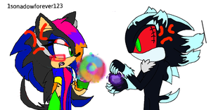 Alexis vs. Mephiles 2nd fight: Show off by 1sonadowforever123
