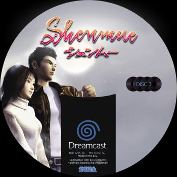 GD label dreamcast shenmue GD3 by Anarkhya