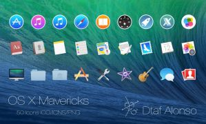 OS X Mavericks icons by dtafalonso