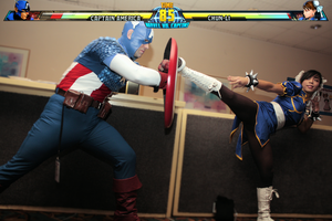 MVC3 - Captain America vs Chun Li by RyomaGod