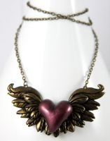 Give your Heart Wings Necklace by NeverlandJewelry