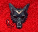 Regal Wolf Mask with Silver Centerpiece by merimask