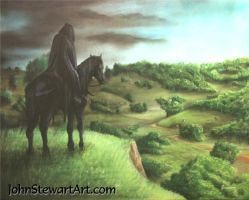 Lord of The Rings Ringwraith Painting for sale by johnstewartart