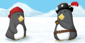 Pirate Penguins chillin' by Orbnauticus