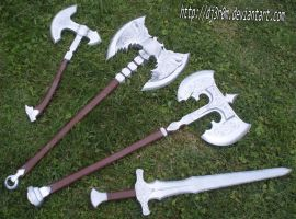 set of weapons from SKYRIM by Dj3r0m