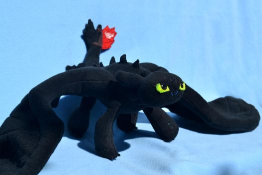 Tiny Toothless by DemodexPlush