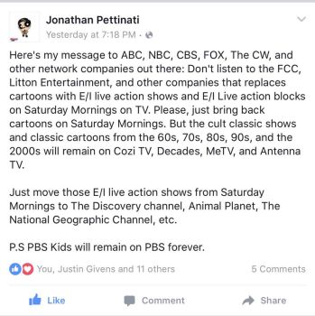 Spread the word, Bring back true Saturday Mornings by Jonathanp68505