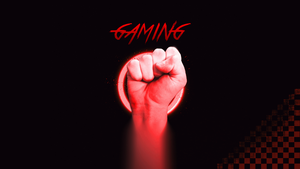Redhand Gaming Wallaper by Creapery