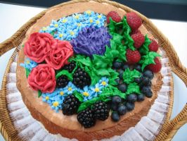 Fruit and Flower Basket Cake 2 by TheShiftyAdvisor
