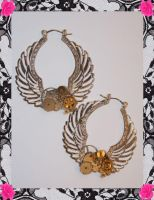 Mechanical Wings earrings by PinkHazard