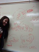 Wednesday Whiteboard Drawings by Auro-Sya