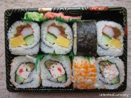Lunch Boxed Sushi by UnlimitedCuriosity