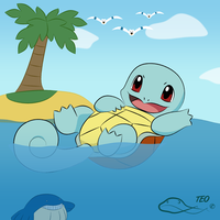 Swimming Squirtle by The-Emerald-Otter
